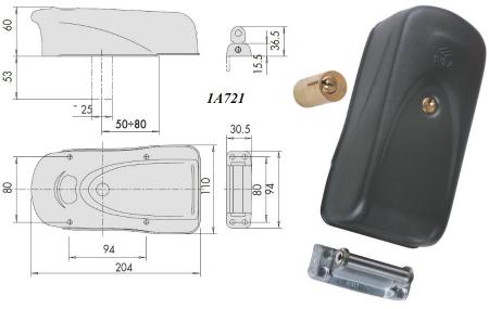 serrure electrique cisa proteco 1a721 professionnels. Black Bedroom Furniture Sets. Home Design Ideas